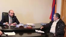 ՀՀ Արագածոտնի մարզպետ Դավիթ Գևորգյանի մոտ կայացավ  2019 թվականի քաղաքացիների առաջին ընդունելությունը