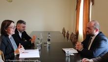Մարզպետ Դավիթ Գևորգյանը հյուրընկալել է  Գերմանիայի միջազգային համագործակցության ընկերության ծրագրերի գնահատող պատվիրակության ղեկավար  Անկա Դերիքսին